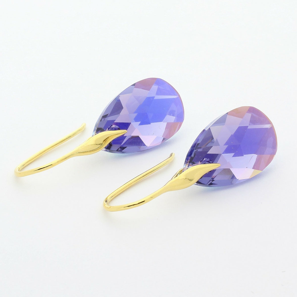 Tanzanite AB Drop Earrings (Gold)