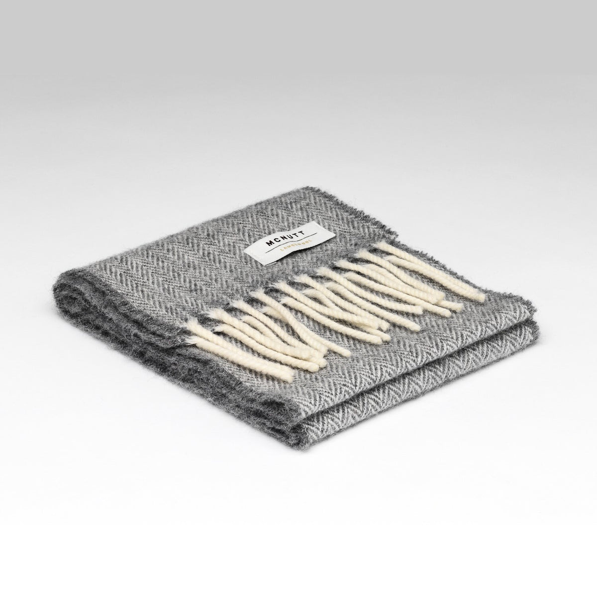 """Uniform Grey"" Lambswool Child's Scarf"