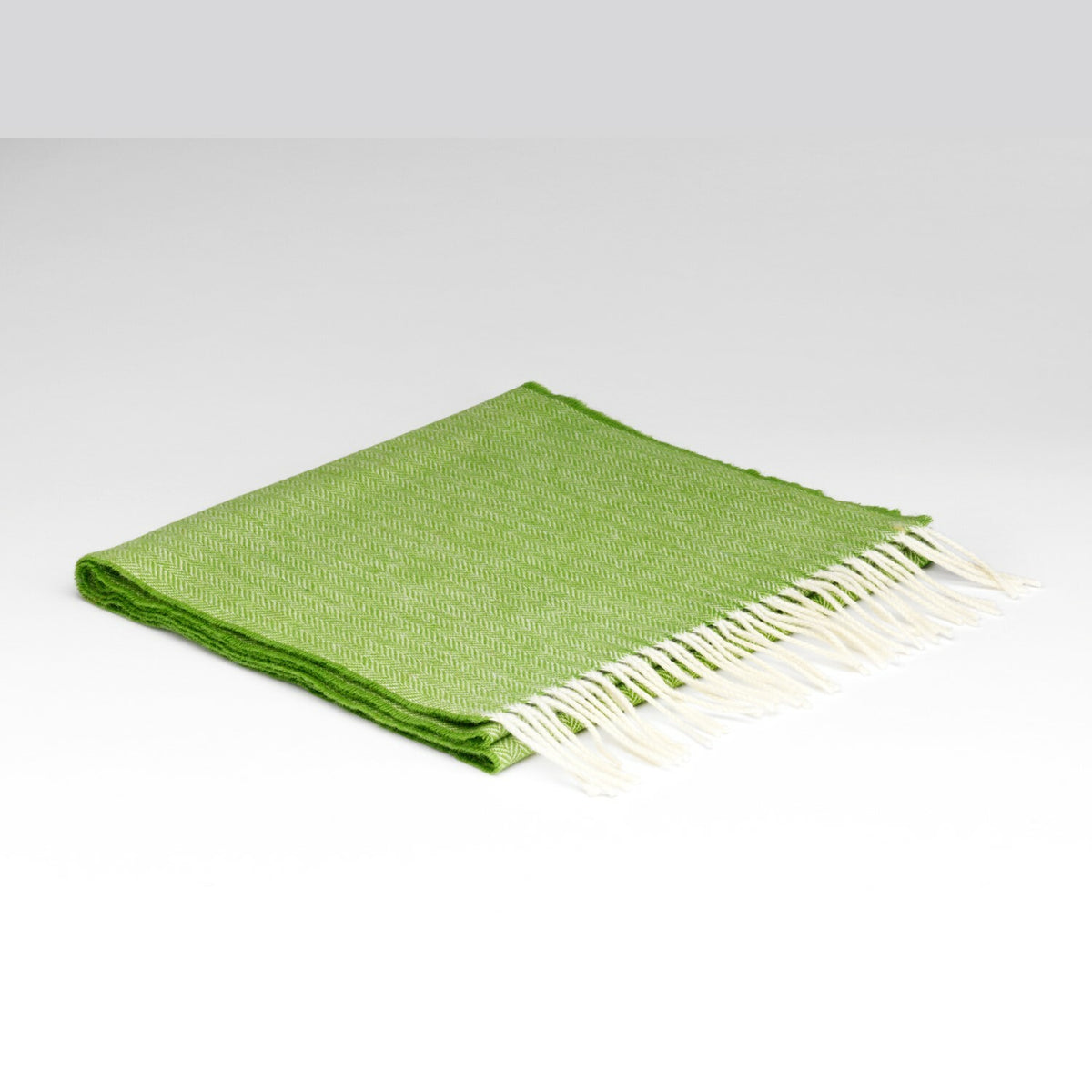 McN Lambswool Scarf Golf Green HB