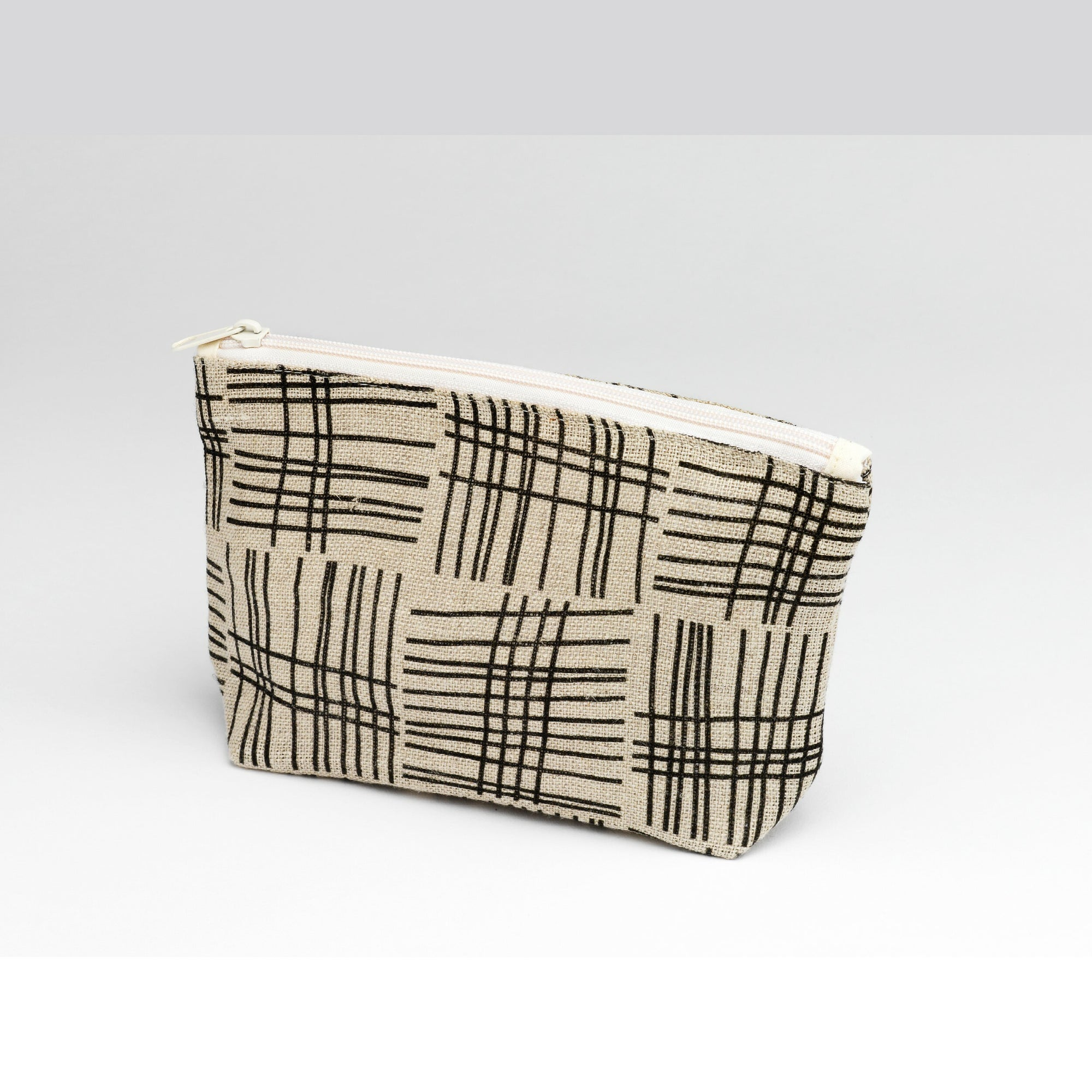 """Weave"" Irish Linen Makeup Bag"