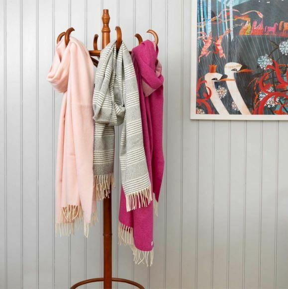 Basswood & Smoke Lambswool Pashmina Discover Our Designers