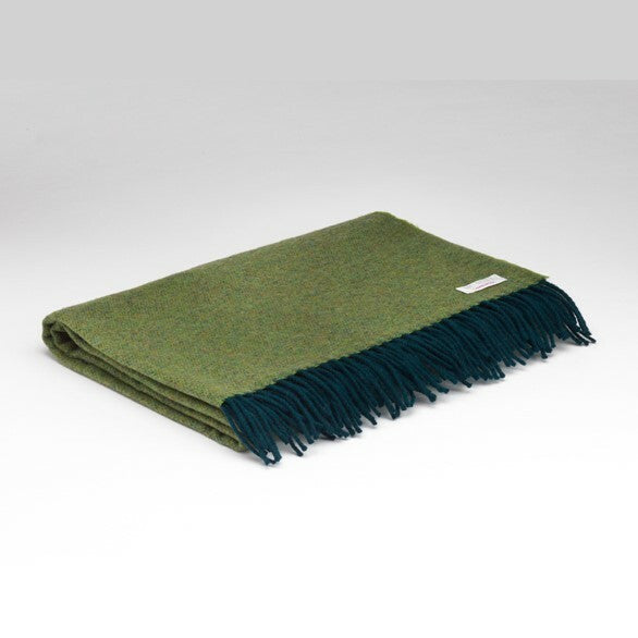 """Winter Green"" Reversible Lambswool Pashmina"