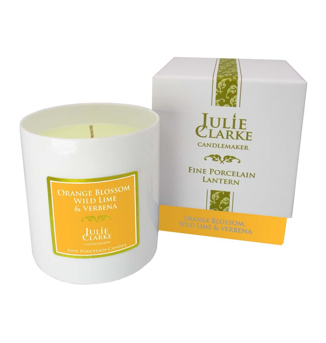 Orange Blossom, Wild Lime & Verbena White Porcelain Candle