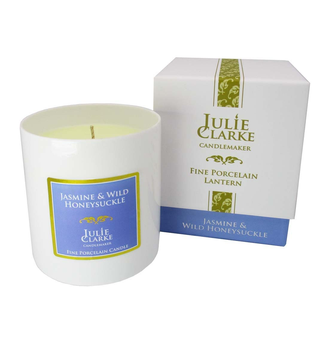 Jasmine & Wild Honeysuckle White Porcelain Candle
