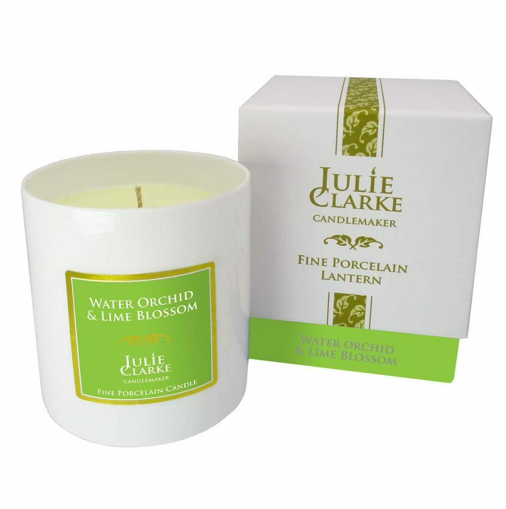 Water Orchid & Lime Blossom White Porcelain Candle