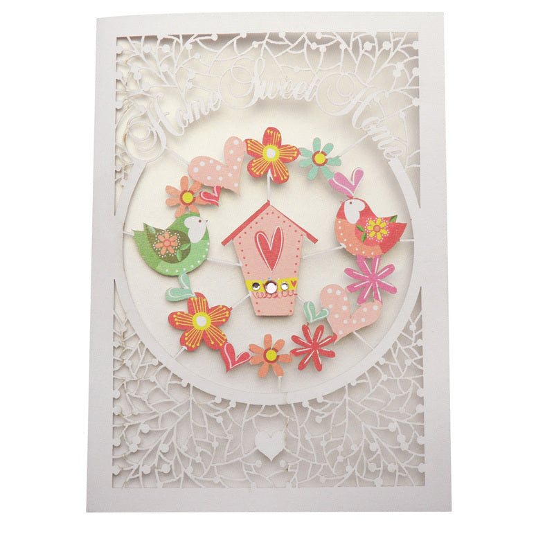 'Bird House' New Home Card (FL018)