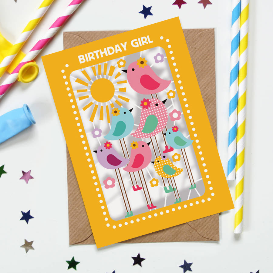 'Birds' Birthday Card (KE009)