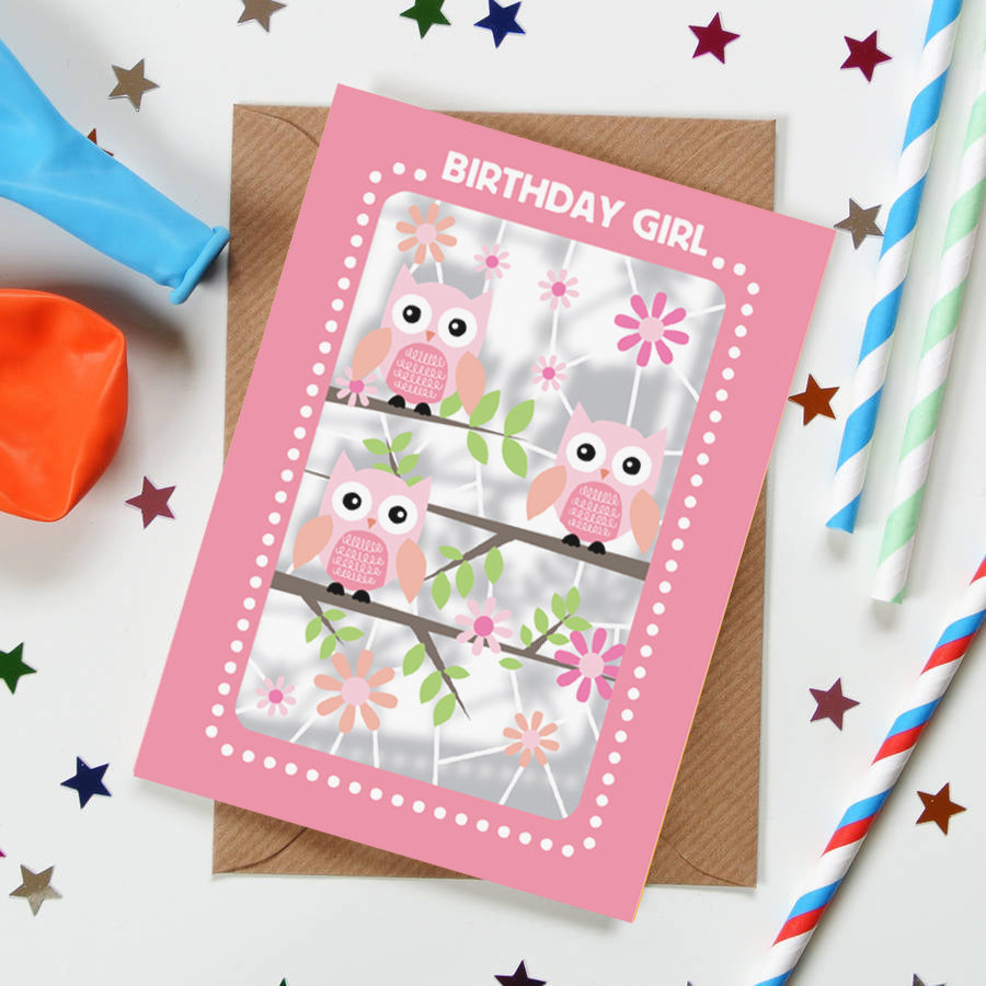 'Owls' Birthday Card (KE012)