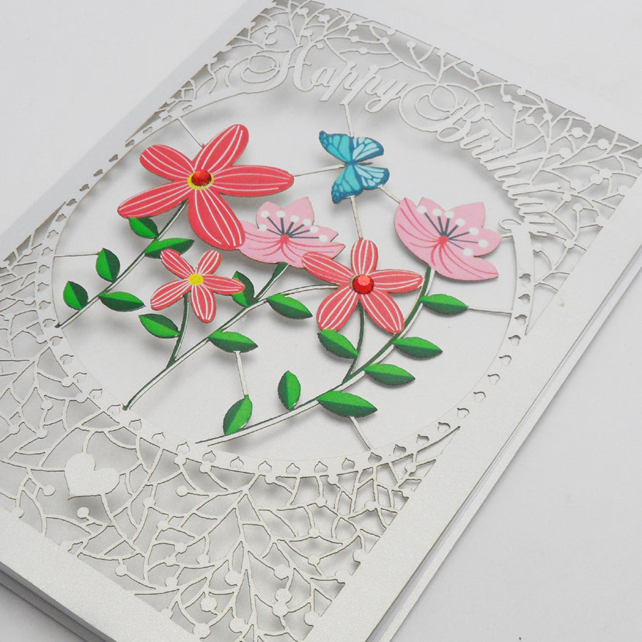 'Flowers' Birthday Card (FL026)