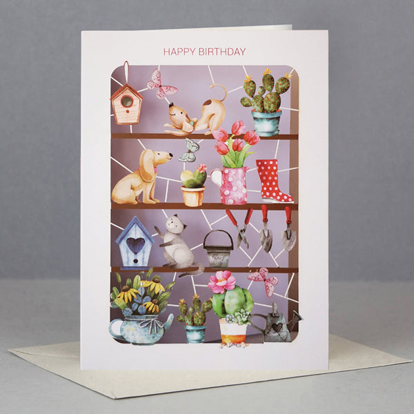 'Potting Shed' Birthday Card (AL059)