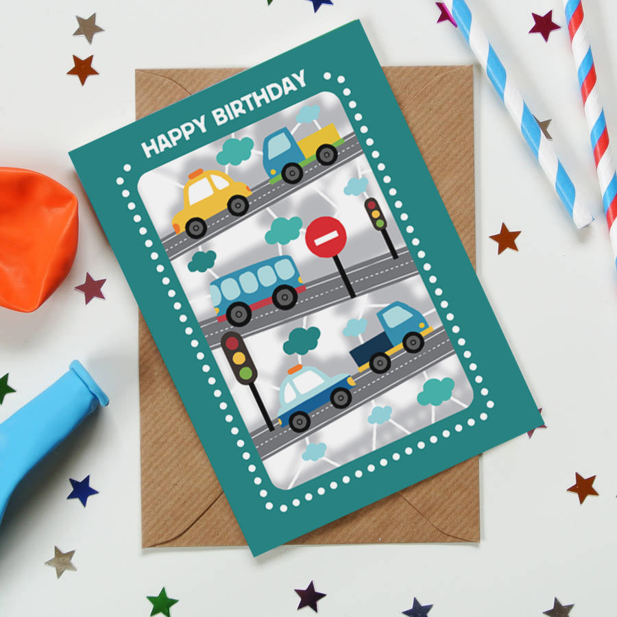 'Traffic' Birthday Card (KE006)