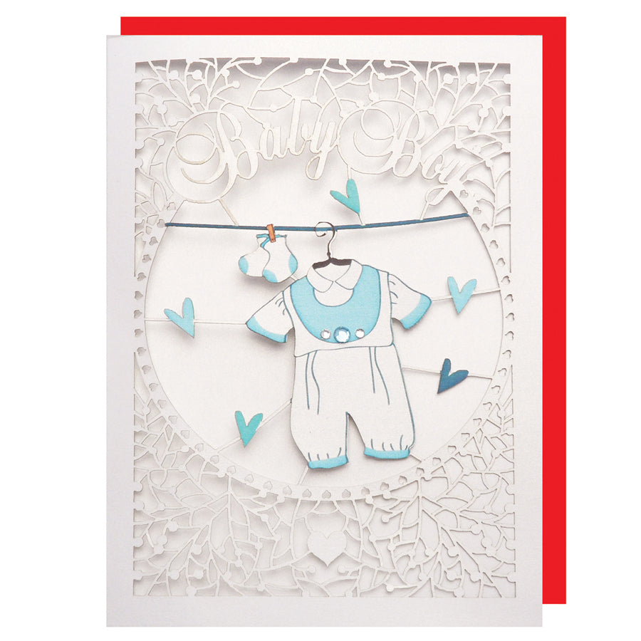 'Baby Clothes (Boy)' Card (FL046)