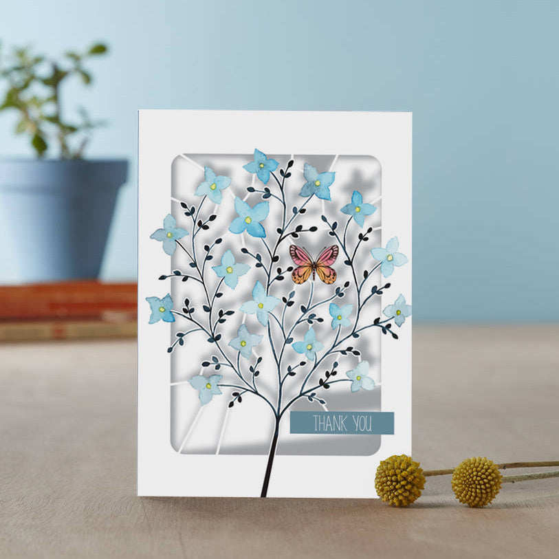 'Butterfly' Thank You Card (AL006)