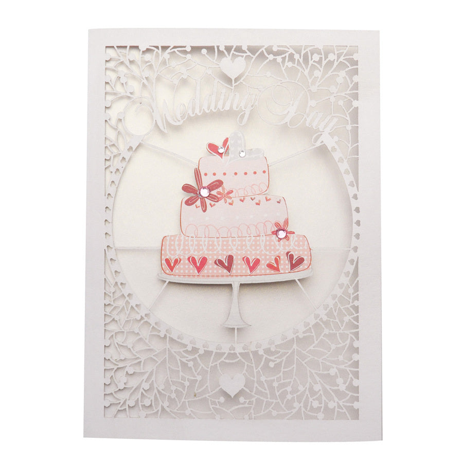'Wedding Cake' Wedding Card (FL016)
