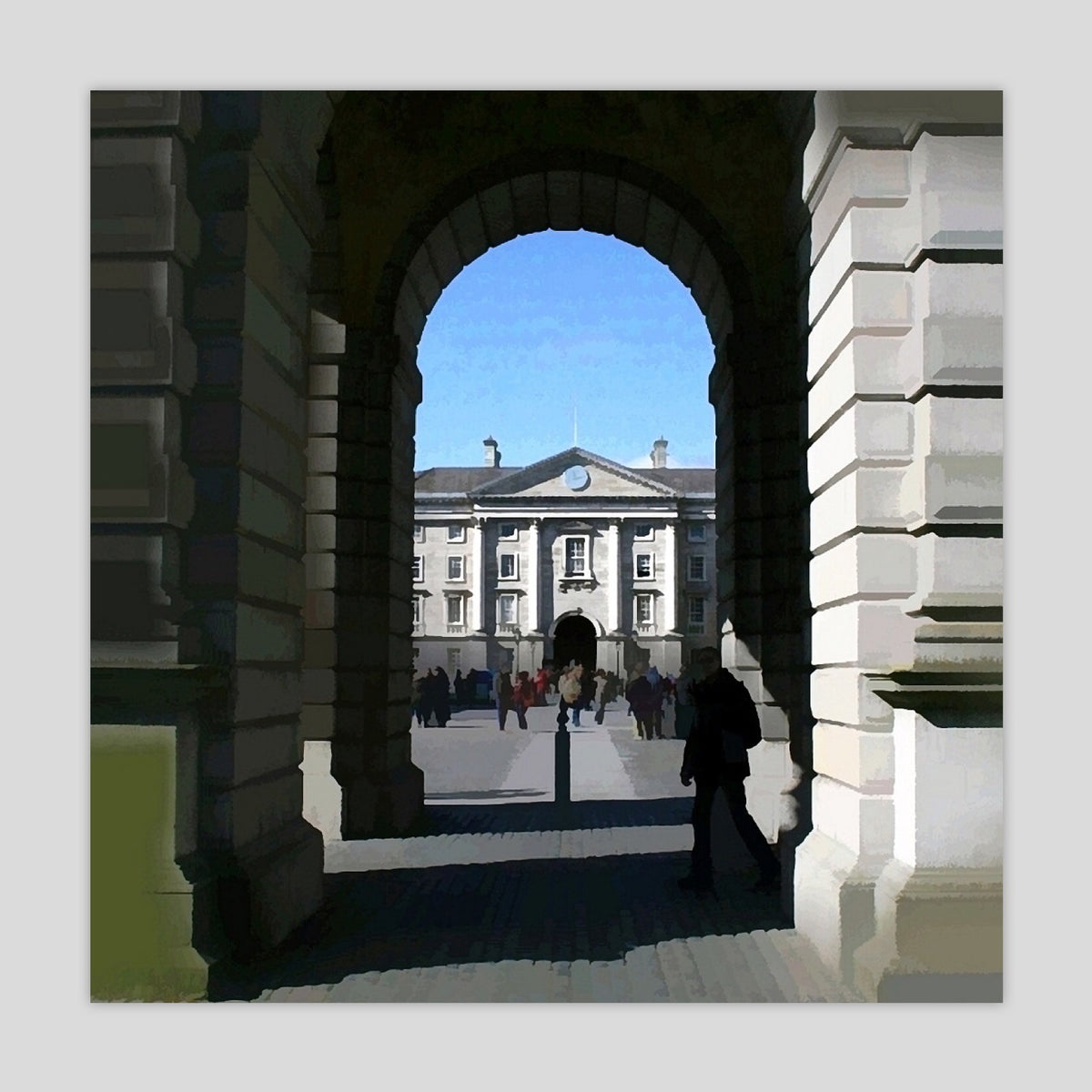 Trinity College Dublin: Front Square from the Campanile (2499S-M7)