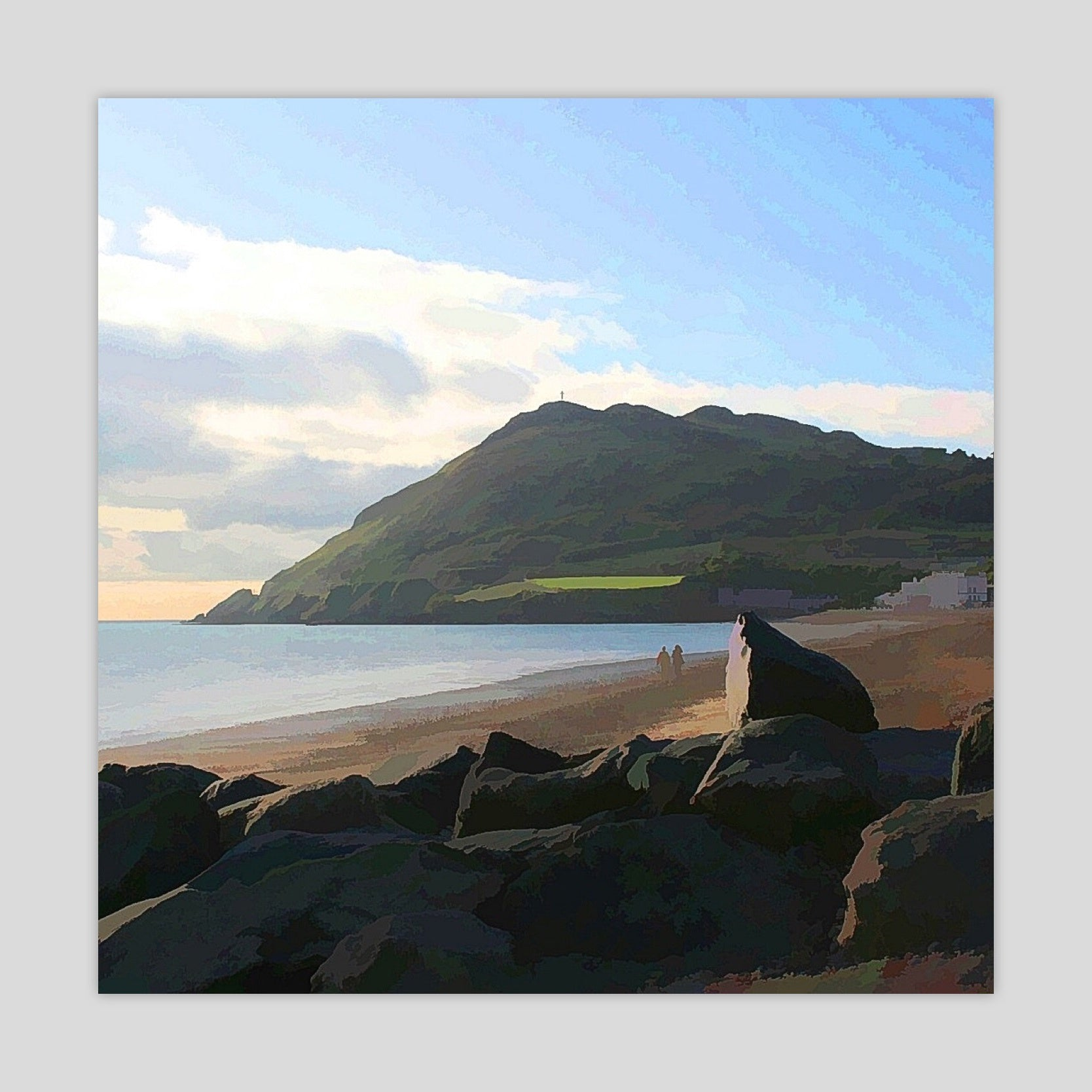 A Walk on the Beach (Bray Head) (2781S-M4)