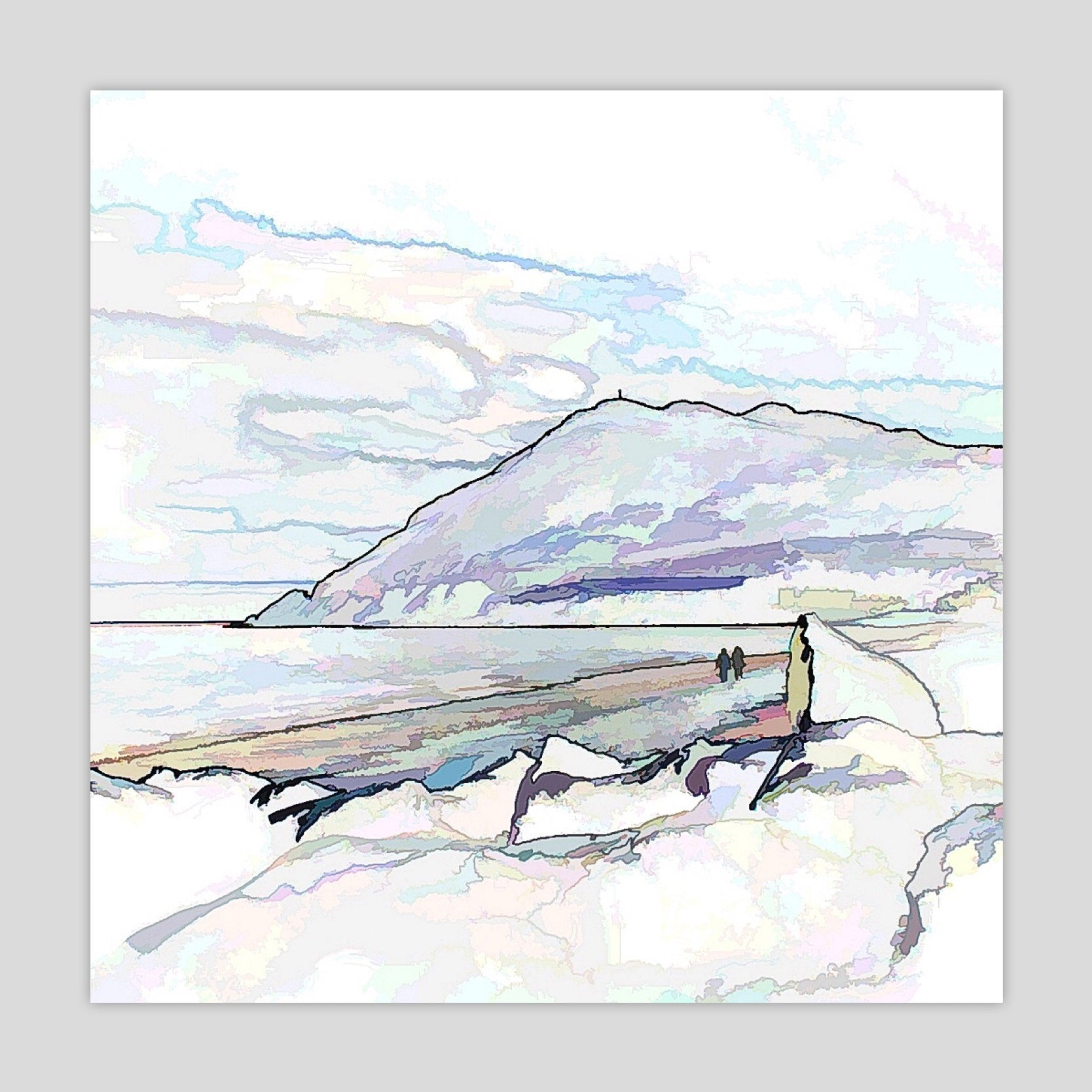 A Walk on the Beach (Bray Head) (2781S-A8)