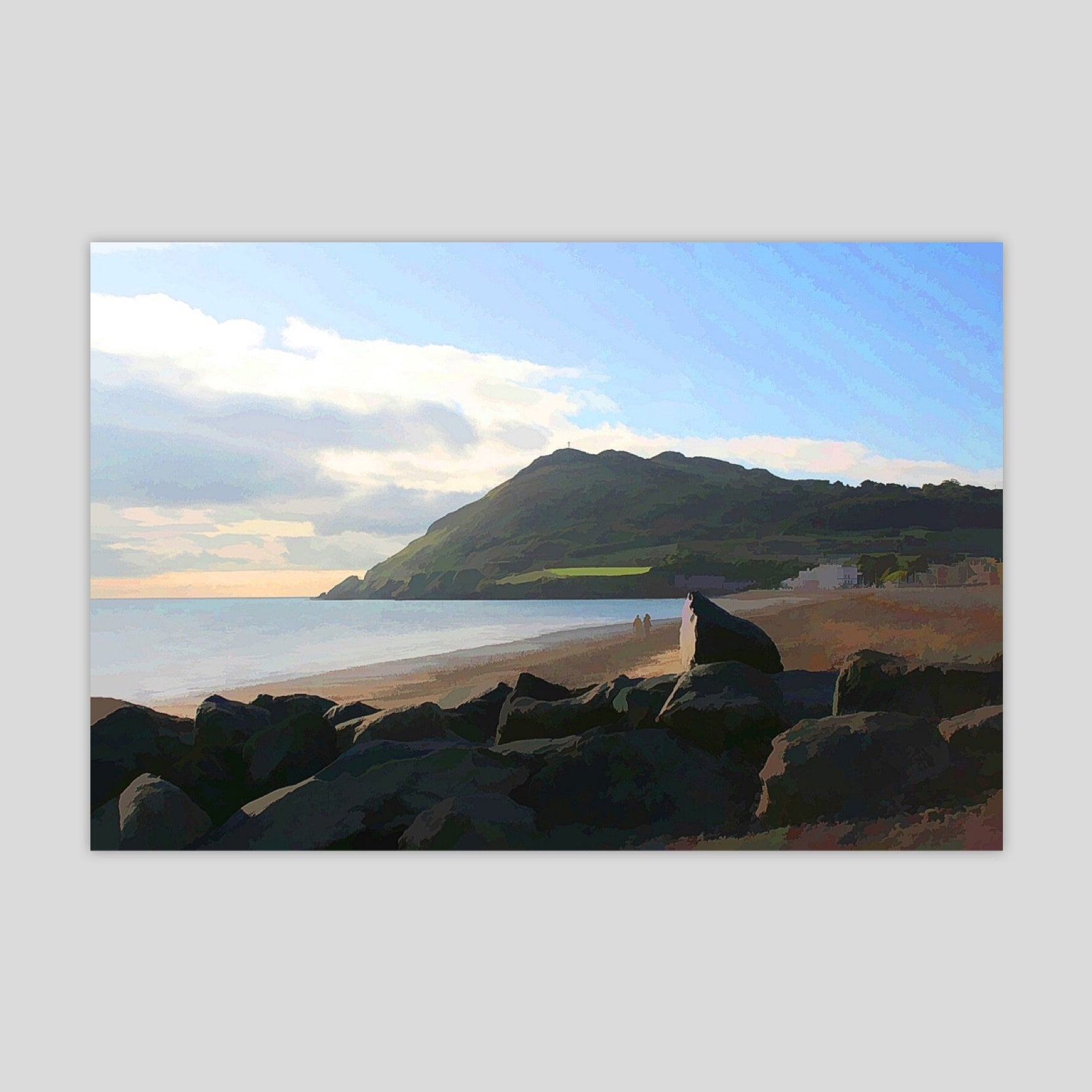 A Walk on the Beach (Bray Head) (2781R-M4)