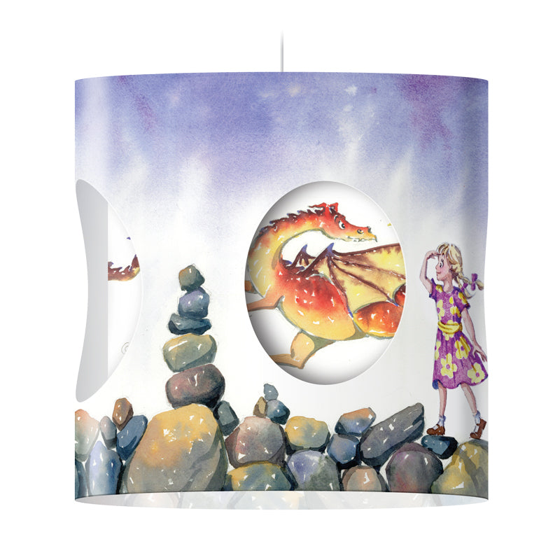 """Dragon"" Rotating Lampshade (Girl)"