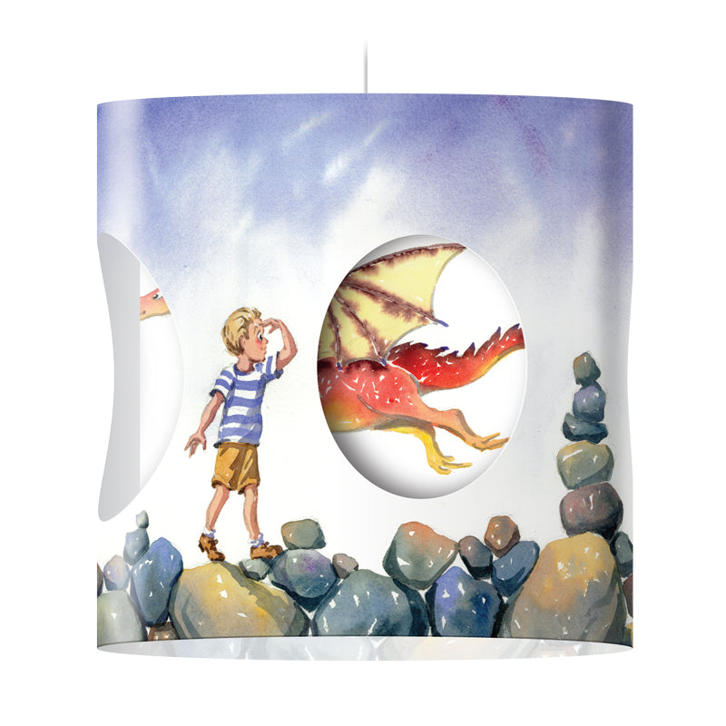 """Dragon"" Rotating Lampshade (Boy)"