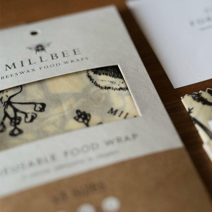 Millbee Beeswax Food Wraps - Variety Pack