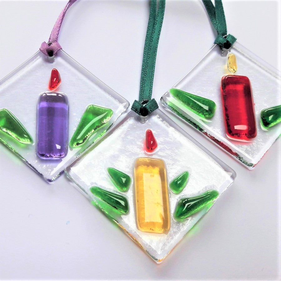 Kings Forge Glass Ornaments small candles