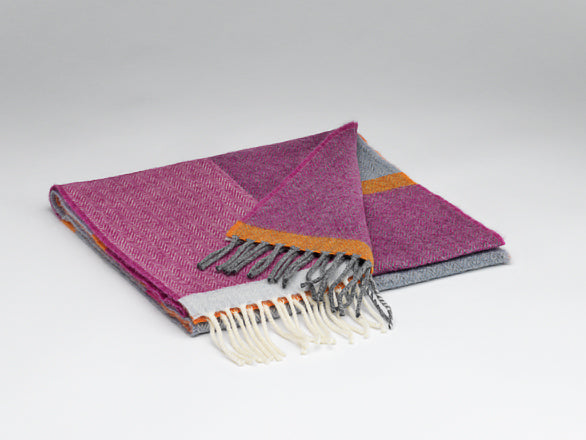 """Beetroot and Smoke"" Lambswool Scarf with Gift Box"