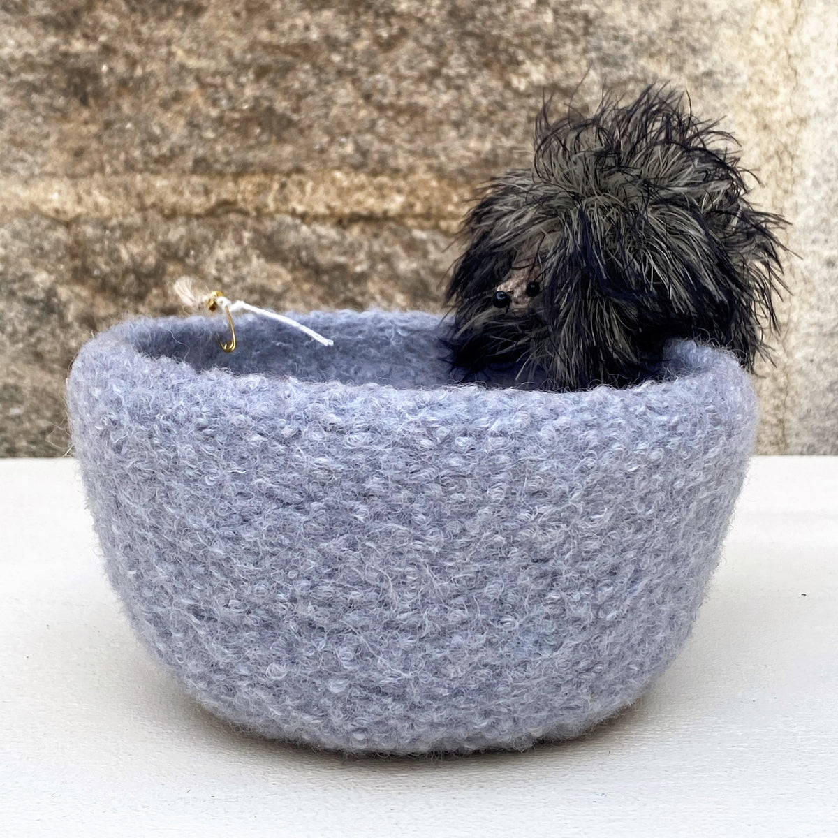 Mia's Hand Felted Bowl - Grey