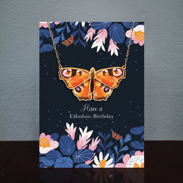 AD Necklace Butterfly Birthday Card (NL001)