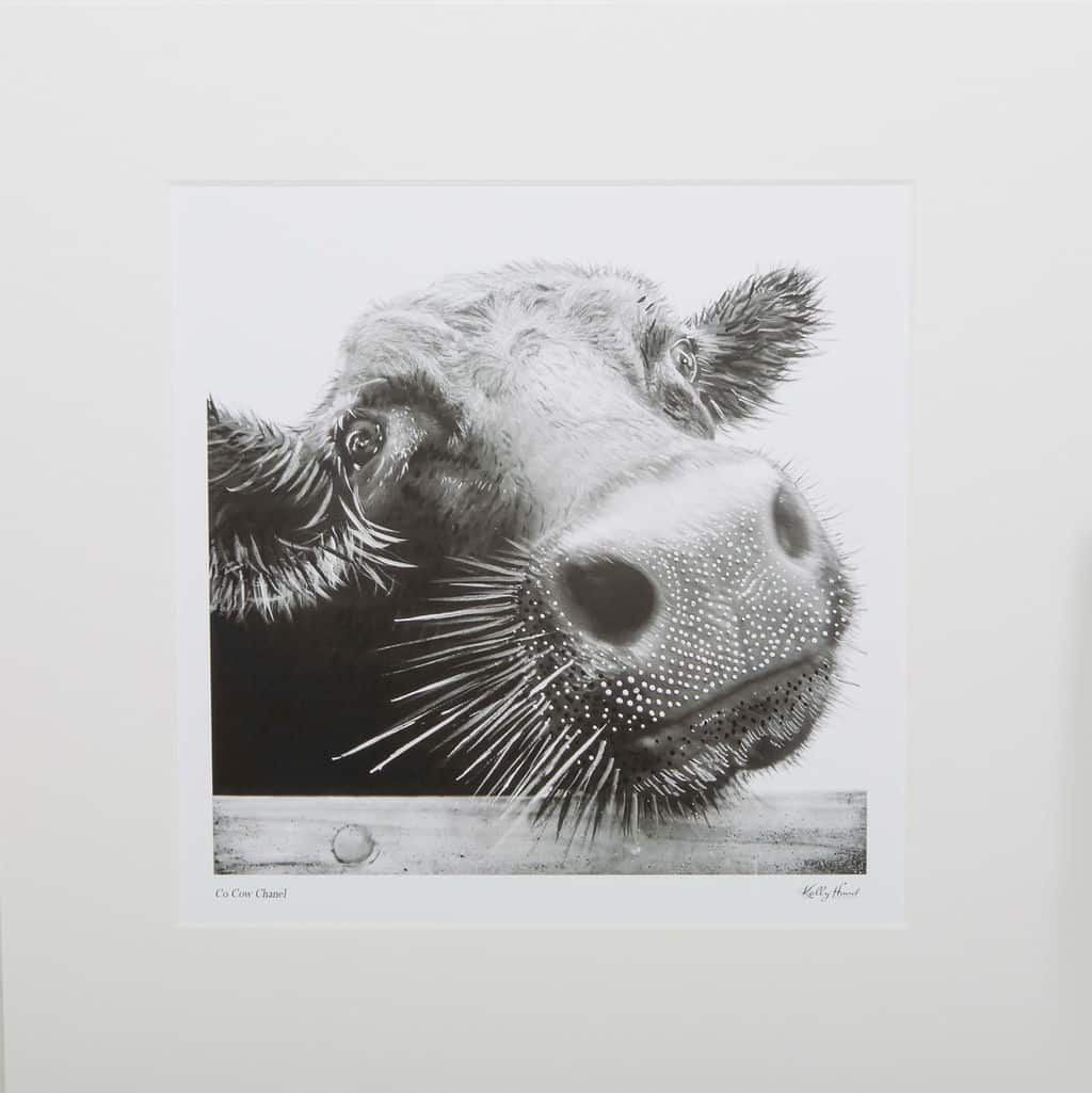 Co-Cow Chanel Mounted Print
