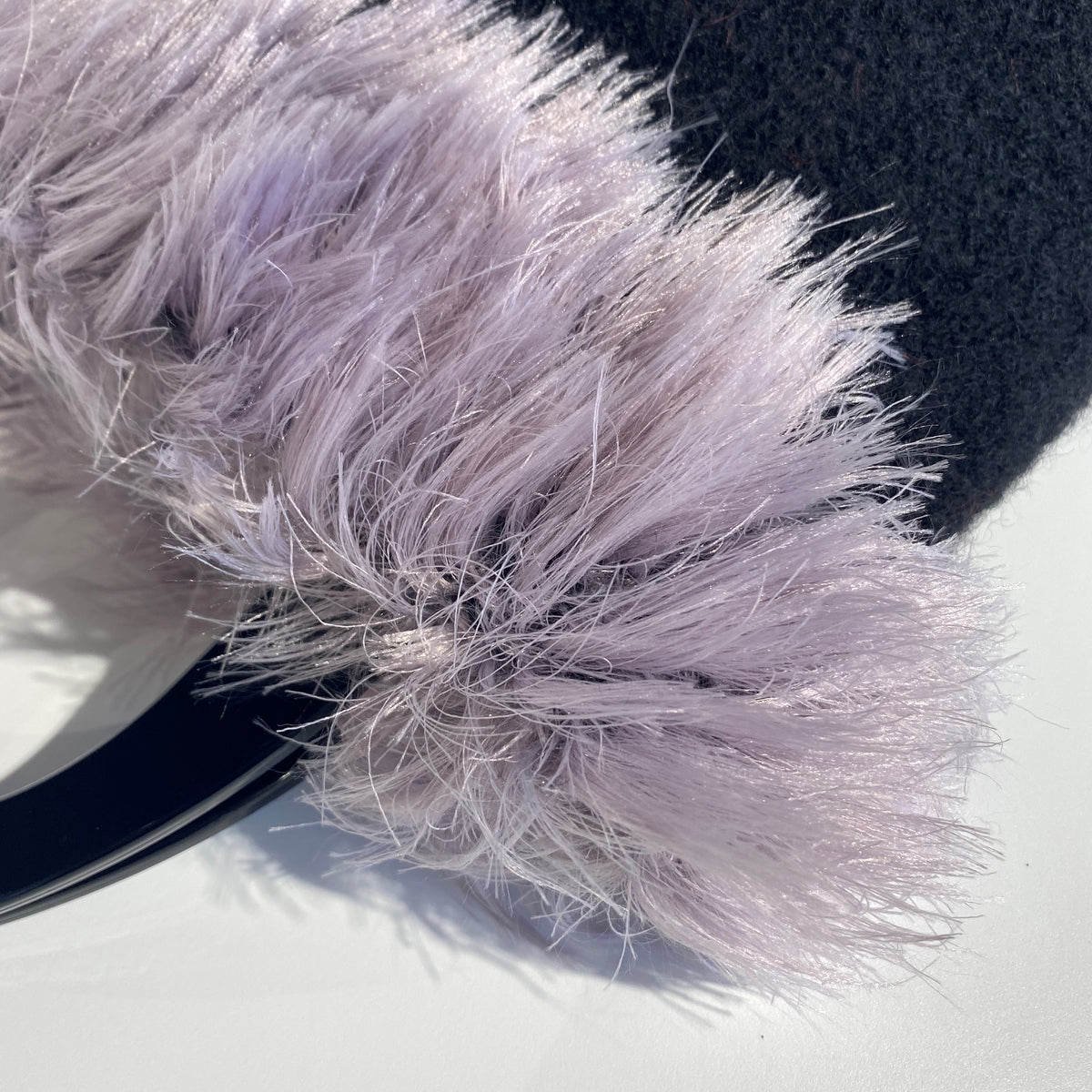 Mia's 'Coco' Fluff top Handbag - Black