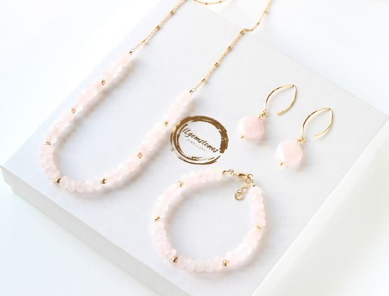 Rose Quartz Gold Filled Necklace