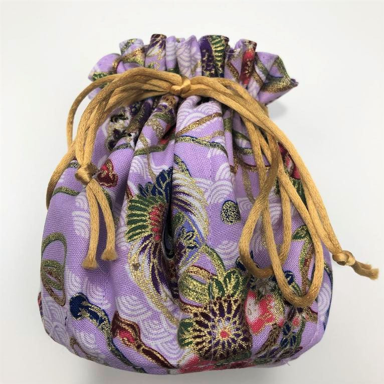 Luxury Jewellery Travel Pouch 'Lavender Flowers'
