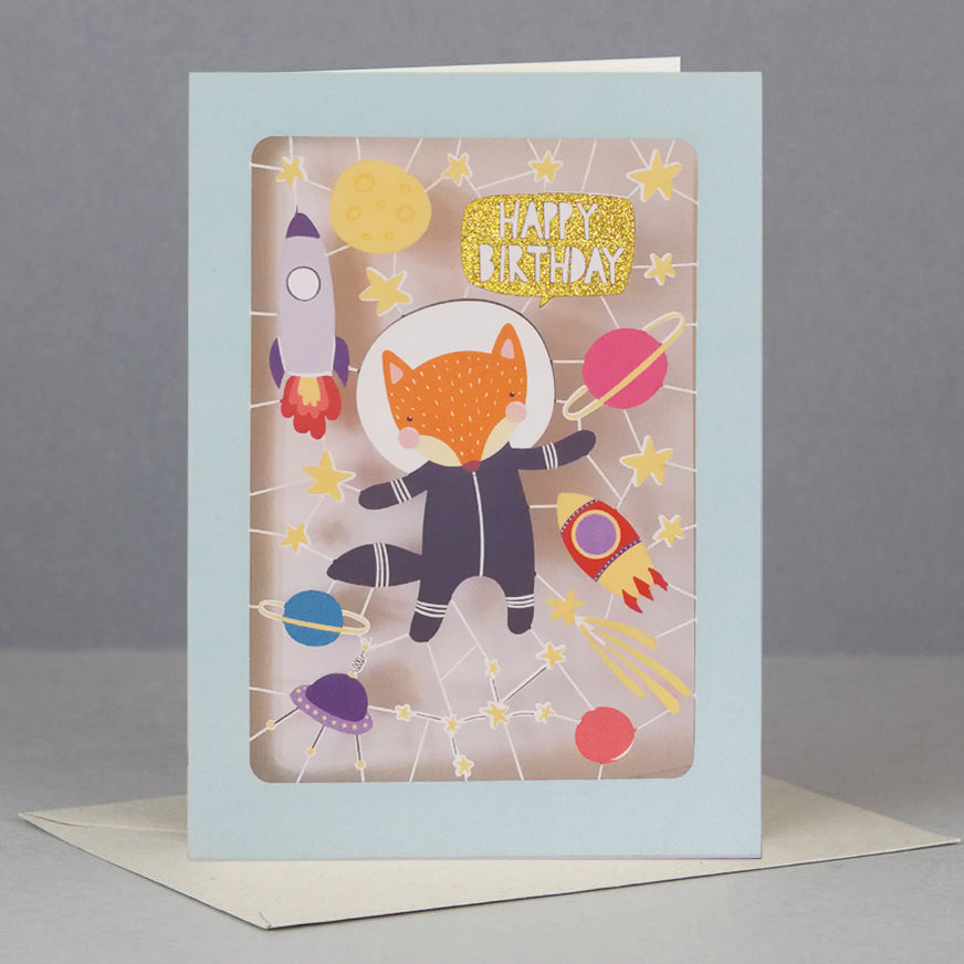 AD 'Fox' Birthday Card (KE033)