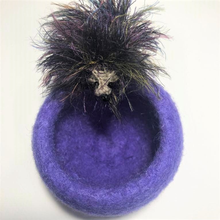Mia's Lavender Hedgehog Ring dish