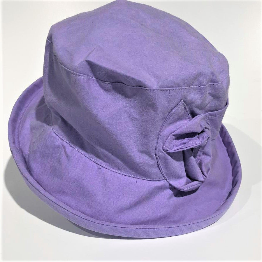 Waxed Cotton Hat 'Lilac '