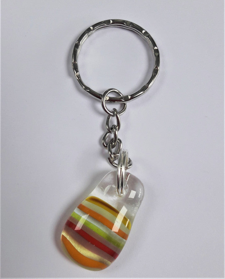 Kings Forge Glass Key Ring, Carnival
