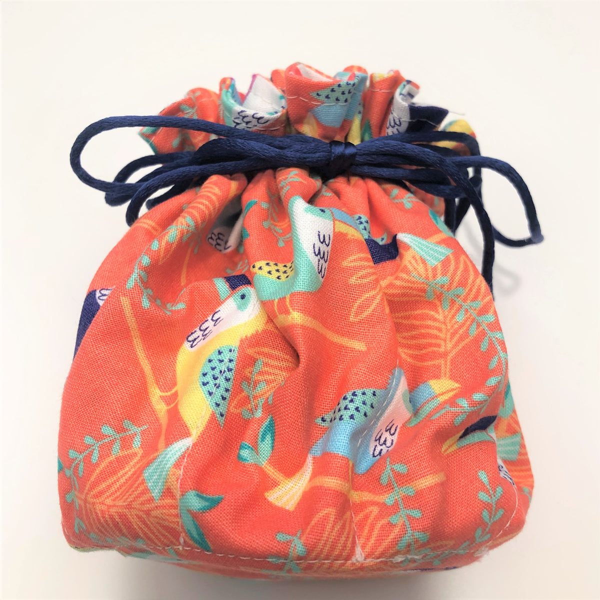 Luxury Jewellery Travel Pouch 'Peachy Toucans'