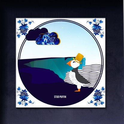 'Stud Puffin' Tile