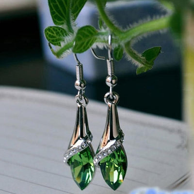 Exquisite 1 Pair Fashion Women Lady Earrings Crystal Marquise Cut Teardrop Wedding Earrings Gift Jewelry Accessories Bijoux