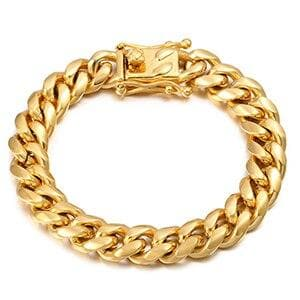 10MM Colorful Cuban Link Bracelet Stainless Steel Men's Hip Hop Jewelry Gold Silver Bangle Rock Accessory Thick Heavy Bracelet 8 Inch