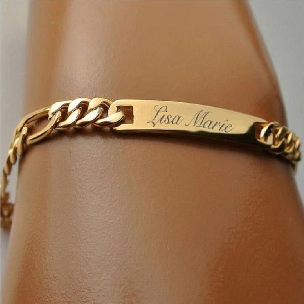 Hot Selling Custom Bracelet For Baby Customized Handwritten Bangle Personalized Stainless Steel Signature Jewelry
