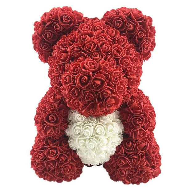 15 Inch Valentine's Day Gift Rose Teddy Bear Rose Flower Artificial Decoration Women Christmas Valentines Gift