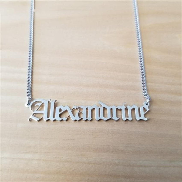 Custom Curb Chain Name Necklace