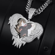 Personalized Custome Photo Pendant Necklace New Design Heart Fashion Hip Hop Custom Jewelry For Men Customized Jewelry