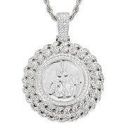 Muslim Islam Allah Pendant Necklace Full Of Crystal Iced Out Chain Necklace Religious Cubic Zirconia For Men's Hip Hop Jewelry