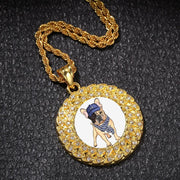 Hot Custom Made Photo Medallions Pendant Necklace Gold Silver Iced Out Cubic Zircon Men's Hip Hop Rap Jewelry Tennis Chain