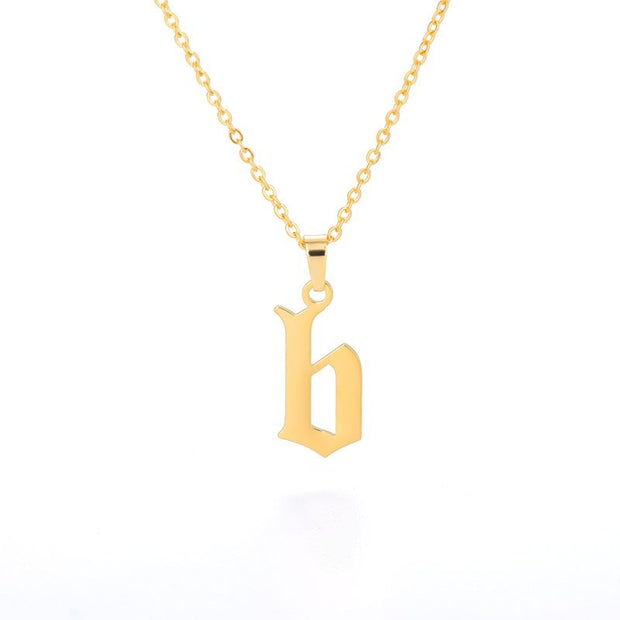 Initial Letter Necklace For Women Stainless Steel Exquisite A-Z Alphabet Pendant Necklace Jewelry Friendship Gifts
