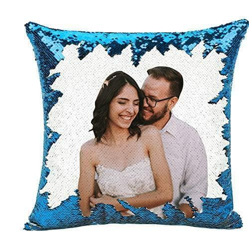 Personalized Custom Photo Sequin Pillow-Home Decor Personalized Gifts