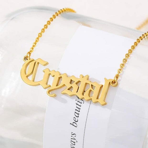 Customized Nameplate Necklaces for Women Gold stainless steel necklace Choker necklace Boho Jewelry Friendship gift Collier 2019